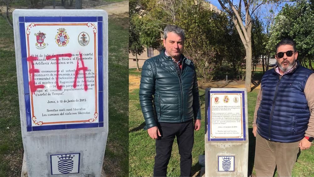 """Acto vandálico en el parque """"Regimiento de Artillería Antiaérea Nº74"""""""